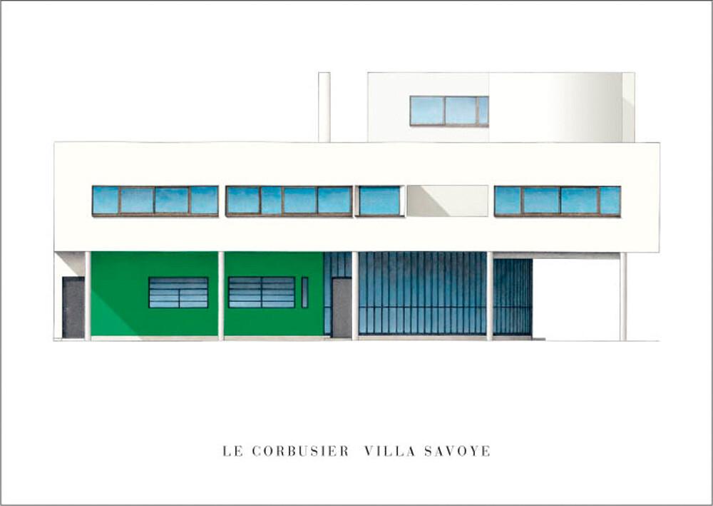 Le Corbusier - Villa Savoye Art Print by Le Corbusier | King & McGaw
