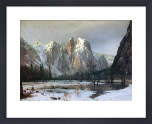 Cathedral Rock Yosemite by Albert Bierstadt