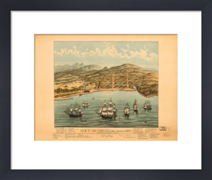 View of San Francisco 1846-7 by Vintage Reproduction