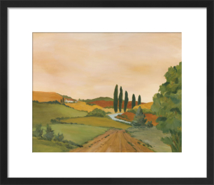 Sunny Tuscan Road by Jean Clark