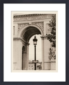 Lamp and Arc de Triomphe by Christian Peacock