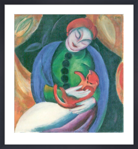Girl with Cat II by Franz Marc