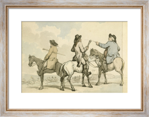 Gentlemen on Horseback Watching a Race by Thomas Rowlandson