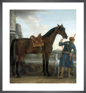 The Great Stallion, the Byerley Turk, held by a Groom, 1731 by John Wootton