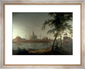 The Taj Mahal at Agra, from across the River Jumna by Thomas Daniell