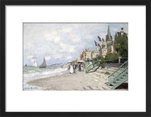 La Plage a Trouville, 1870 by Claude Monet