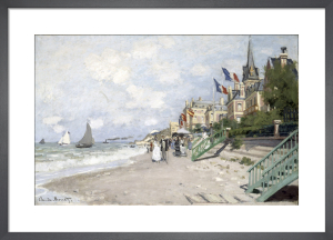 La Plage a Trouville, 1870 by Claude Monet