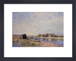 Le Loing a Saint-Mammes, 1884 by Alfred Sisley