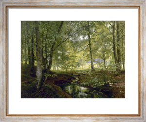 The Forest Brook, 1896 by Christian Peder Morch Zacho