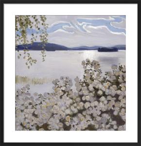 Valkoisia Ruusuja, Konginkangas (White Roses), 1906 by Akseli Gallen-Kallela