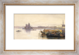 Santa Maria Della Salute and the Doge's Palace by Edward Lear