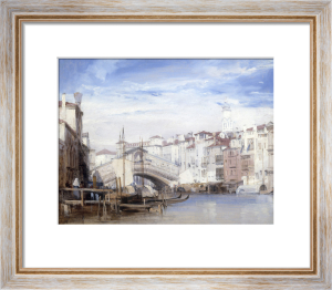The Rialto, Venice by Richard Parkes Bonington