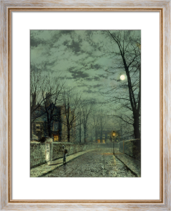 A Wet Country Road, 1881 by John Atkinson Grimshaw