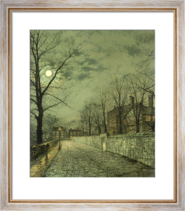 A Moonlit Road, 1880 by John Atkinson Grimshaw