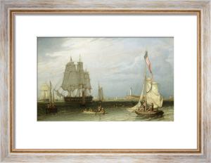 Shipping Scene at Boston Light, 1829 by Robert Salmon