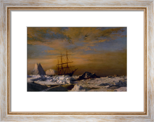 Steamer Panther among the Icebergs of Melvile Bay, Labrador by William Bradford