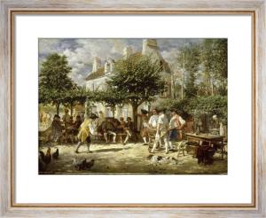 Sunday in Poissy, 1850 by Jean-Louis Ernest Meissonier