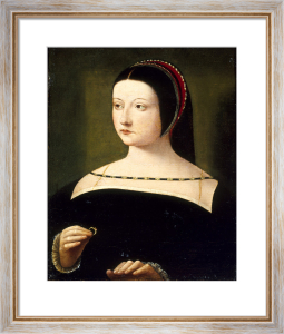 A Lady Wearing a Black Dress, Holding a Ring by Circle of the Master of the Female Half-Lengths