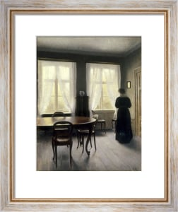 Rainy Weather by Vilhelm Hammershoi