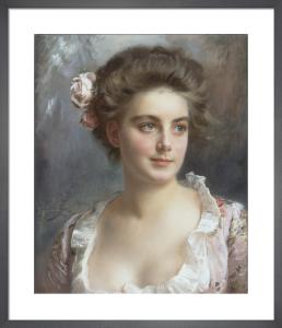 Portrait d'une Elegante by Gustave-Jean Jacquet