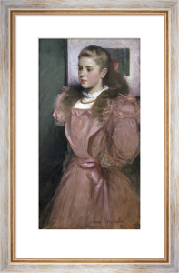 Young Girl in Rose (Eleanora Randolph Sears), 1895 by John White Alexander