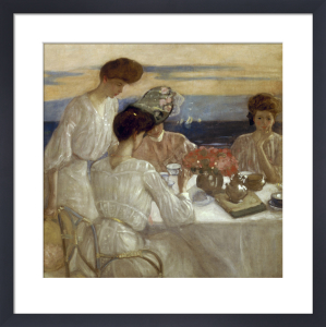 Afternoon Tea on the Terrace by Frederick Carl Frieseke