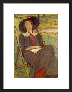 Virginia Woolf in a Deckchair, 1912 by Vanessa Bell