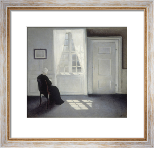 Ida Reading in the Sunlight, Strandgade 30 by Vilhelm Hammershoi