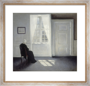 Ida Reading in the Sunlight, Strandgade 30 by Vilhelm Hammershoi