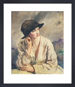 A Woman Thinking - a Portrait of Miss Sinclair by Sir William Orpen