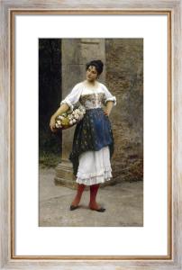 Venetian Flower Seller, 1895 by Eugene von Blaas