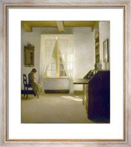 A Young Girl Reading by the Window by Peter Vilhelm Ilsted