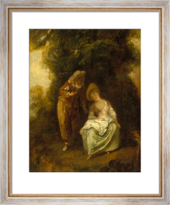 A Pair of Lovers Resting Beneath a Tree by Nicolas Lancret