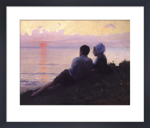 A Couple Watching the Sunset by Charles Amable Lenoir