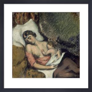 Hortense Allaitant Paul by Paul Cezanne