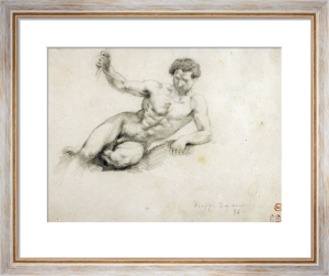 Reclining Male Nude, after Thevelin, 1854 by Eugene Delacroix