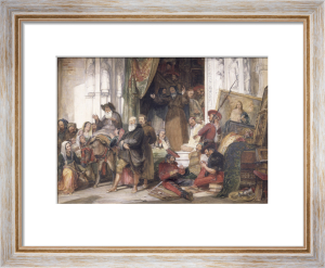 The Pillage of a Convent in Spain by Guerilla Soldiers, 1838 by John Frederick Lewis