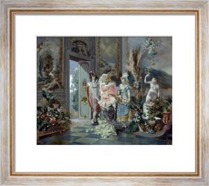 Rococo Manners, 1887 by Juan Antonio Gonzales