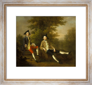 Portrait of David Garrick and William Windham, c.1745 by Francis Hayman
