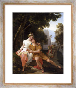 Propertius and Cynthia at Tivoli by Auguste Jean Baptiste Vinchon