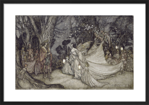 The Meeting of Oberon and Titania, 1908 (Shakespeare) by Arthur Rackham