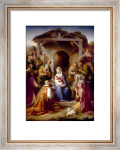 The Nativity. 1853 by Franz Von Rohden