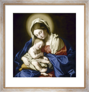 Virgin and Sleeping Child by Sassoferrato (Giovanni Battista Salvi)