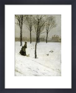 A Winter's Promenade, 1875 by Giuseppe De Nittis