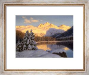 Soir de Novembre pres de St Moritz, Engadine by Ivan Federovich Choultse