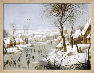 Winter Landscape with a Birdtrap by Pieter Brueghel The Younger