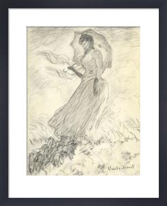 Femme a L'Ombrelle, 1890 by Claude Monet