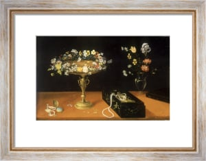 Still Life of Flowers, Gilt Tazza and Jewels in Lacquer Box by Jan Brueghel the Elder