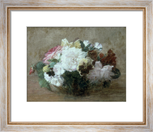 Fresh Cut Flowers by Ignace-Henri-Théodore Fantin-Latour