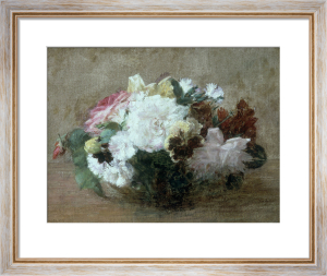 Fresh Cut Flowers by Ignace-Henri-Théodore Fantin-Latour